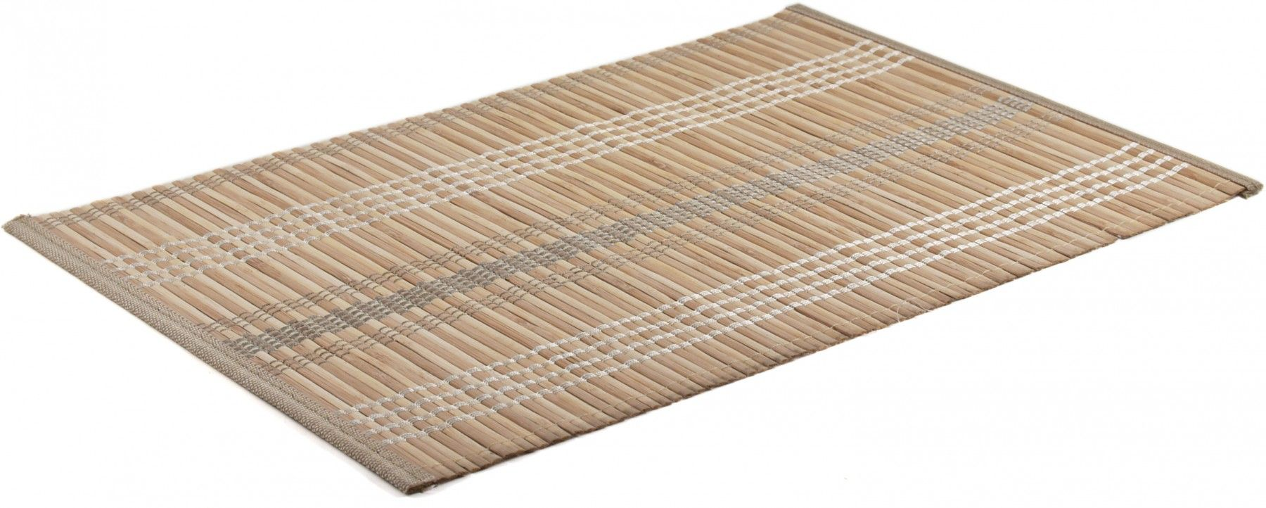 Natural Threaded Bamboo Placemat Set Of 4 Bamboo Placemats Placemats Placemat Sets