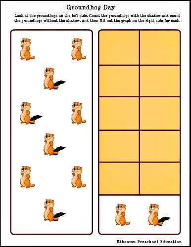 Groundhog Day Graphing Worksheet From Kiboomu Preschool Education Teaching Handwriting Preschool Preschool Learning Kiboomu preschool education worksheets