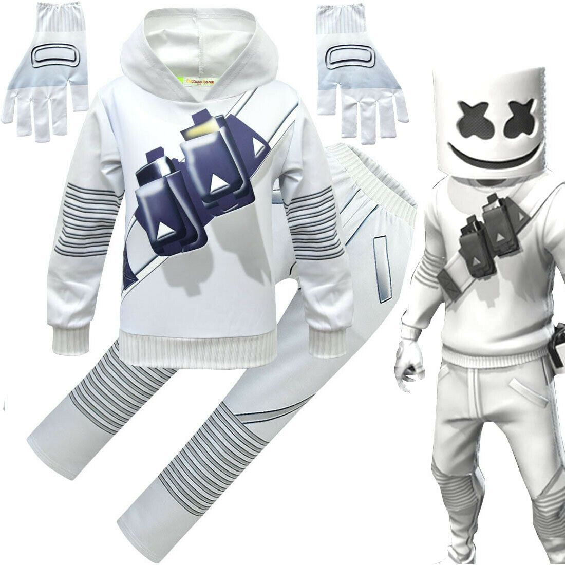 Indepence Life Youth Boys 2-Piece DJ Marshmello Hoodies Set Pullover Cool Sweatshirt Pants Set