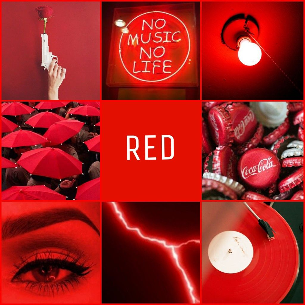 Red Aesthetic Pictures Collage