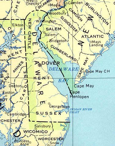 Map Of Our Small State Delaware Map Map Cape May