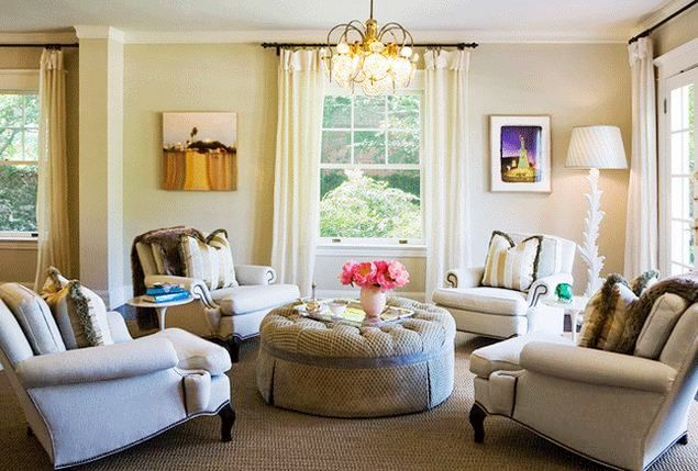 Wonderful Sitting Rooms · L.A. Home Of Interior Designer Abby Wolf Weiss / Love The  Circle Of 4 Chairs