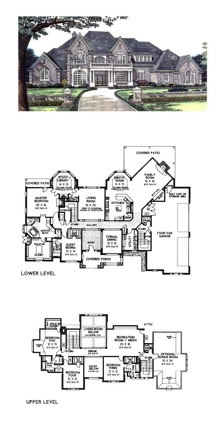 European french country tudor victorian house plan 66026