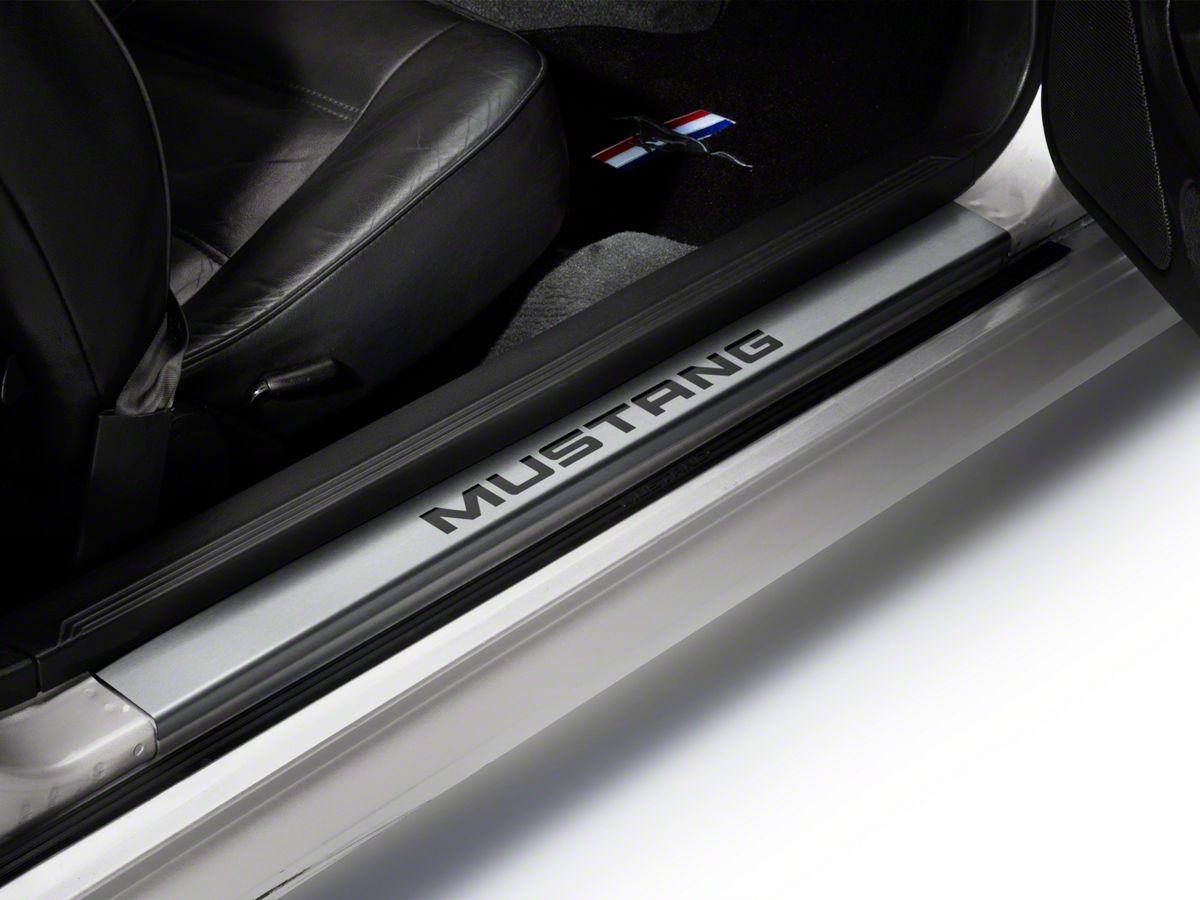 Modern Billet Mustang Stainless Steel Door Sill Plates Mustang 22051 94 04 All Mustang Interior Mustang Custom Cars Paint