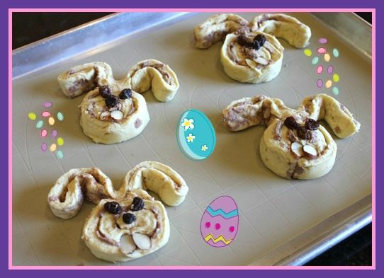 Easter Cinnamon Roll bunnies