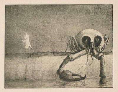 Alfred Kubin - The Hour of Birth (Die Stunde der Geburt), 1903  Käthe Kollwitz Museum, Köln, Germany