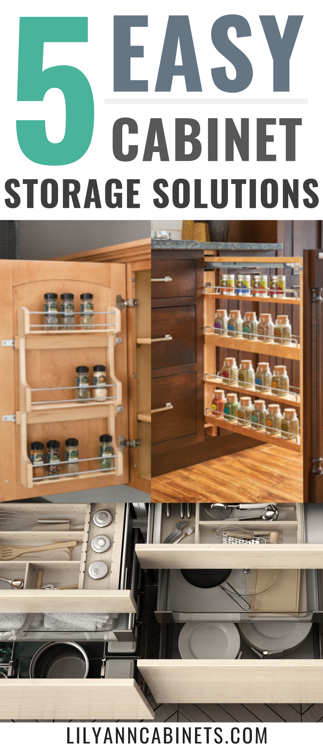 5 Clever Rta Cabinet Features That Can Help You Save Space In Your Kitchen Kitchen Organization Diy Cabinet Storage Solutions Kitchen Organization