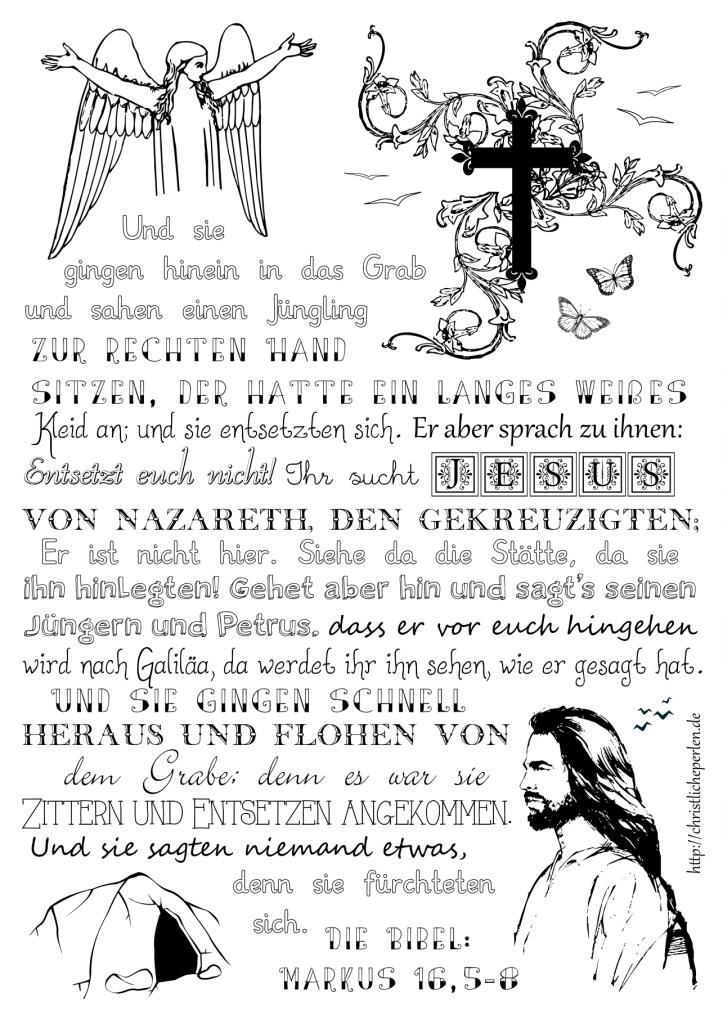 ausmalbilder zur bibel  christliche perlen  ausmalen