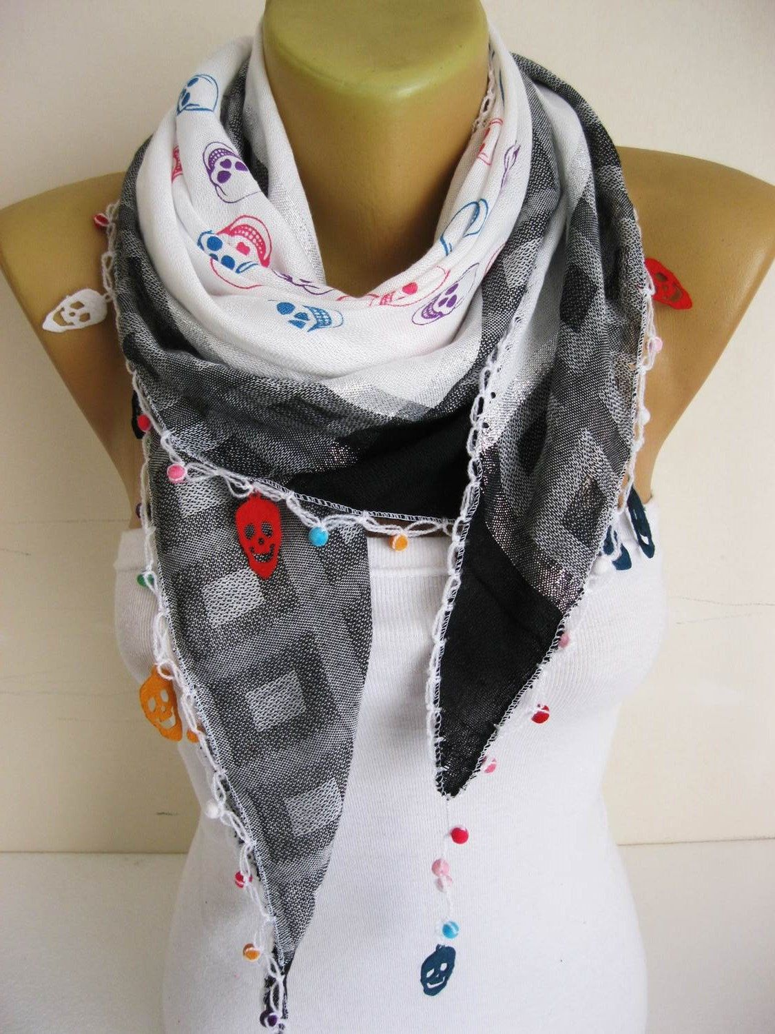 Trend Scarf Skull Scarf Scarves gift Ideas For Her Women