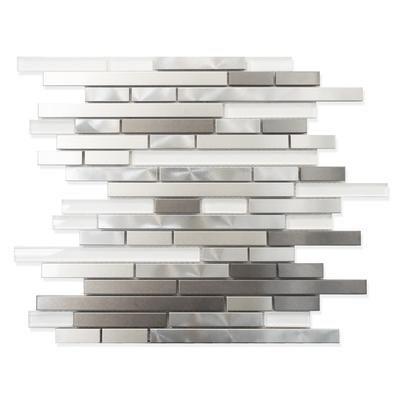 BACKSPLASHModamo Stainless Steel Metal And Super White