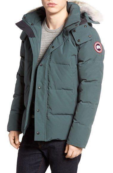 1d5a2929643 CANADA GOOSE Wyndham Slim Fit Genuine Coyote Fur Trim Down Jacket.   canadagoose  cloth