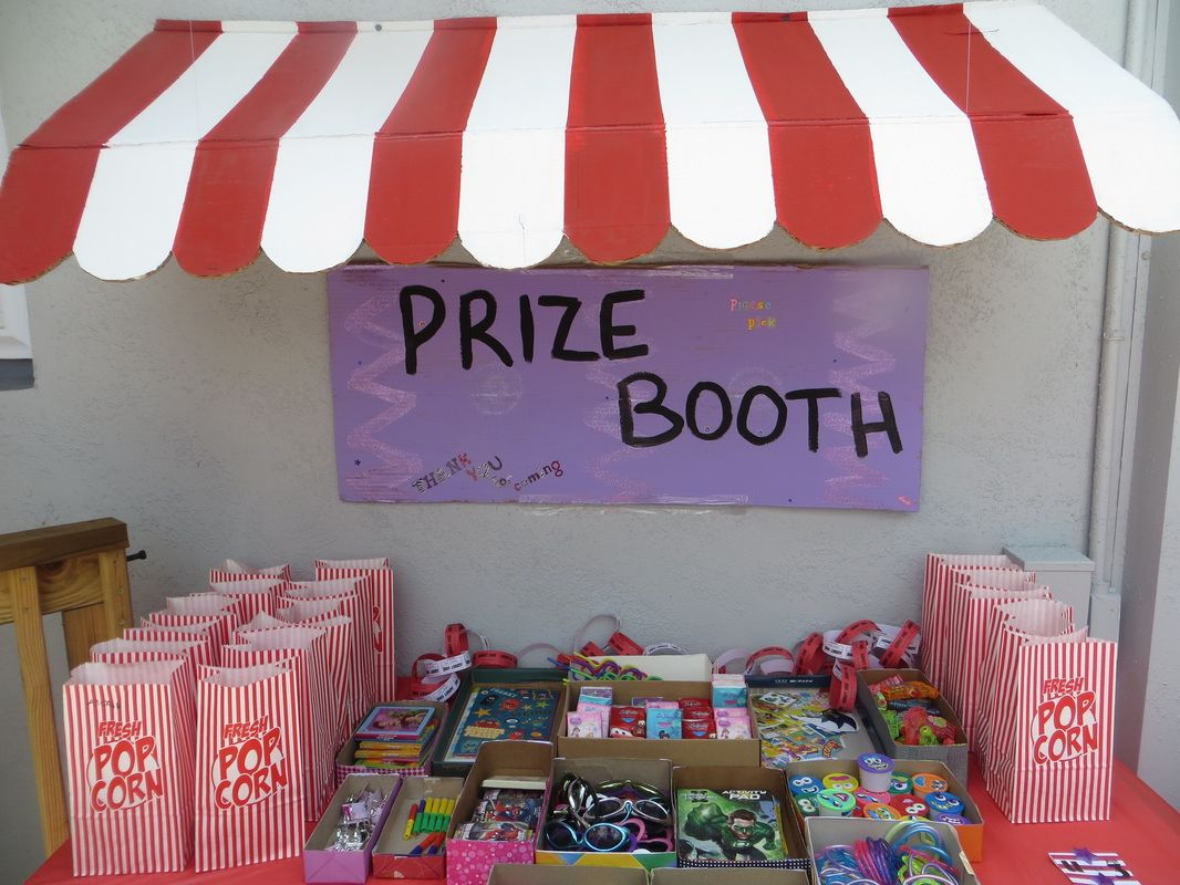 Carnival birthday party prize booth top is made of for Cheap party ideas for adults