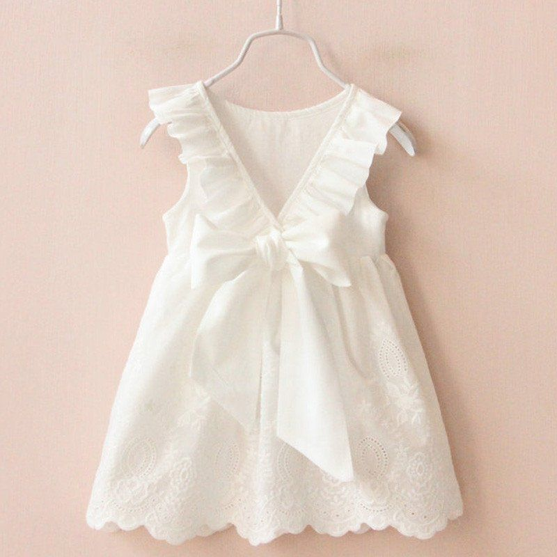 0e2256f8e Solid White Cotton Dress – BABY OBSESSIONS