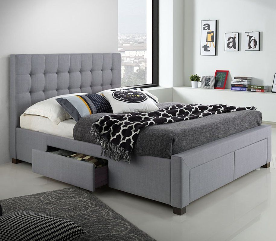 Candace Upholstered Storage Platform Bed Bed With Drawers