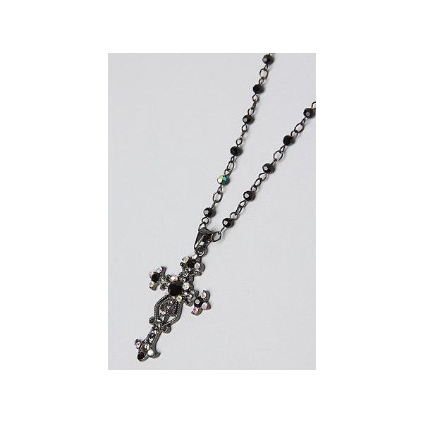 *Accessories Boutique The Gothic Crystal Black Cross ($6.95) ❤ liked on Polyvore
