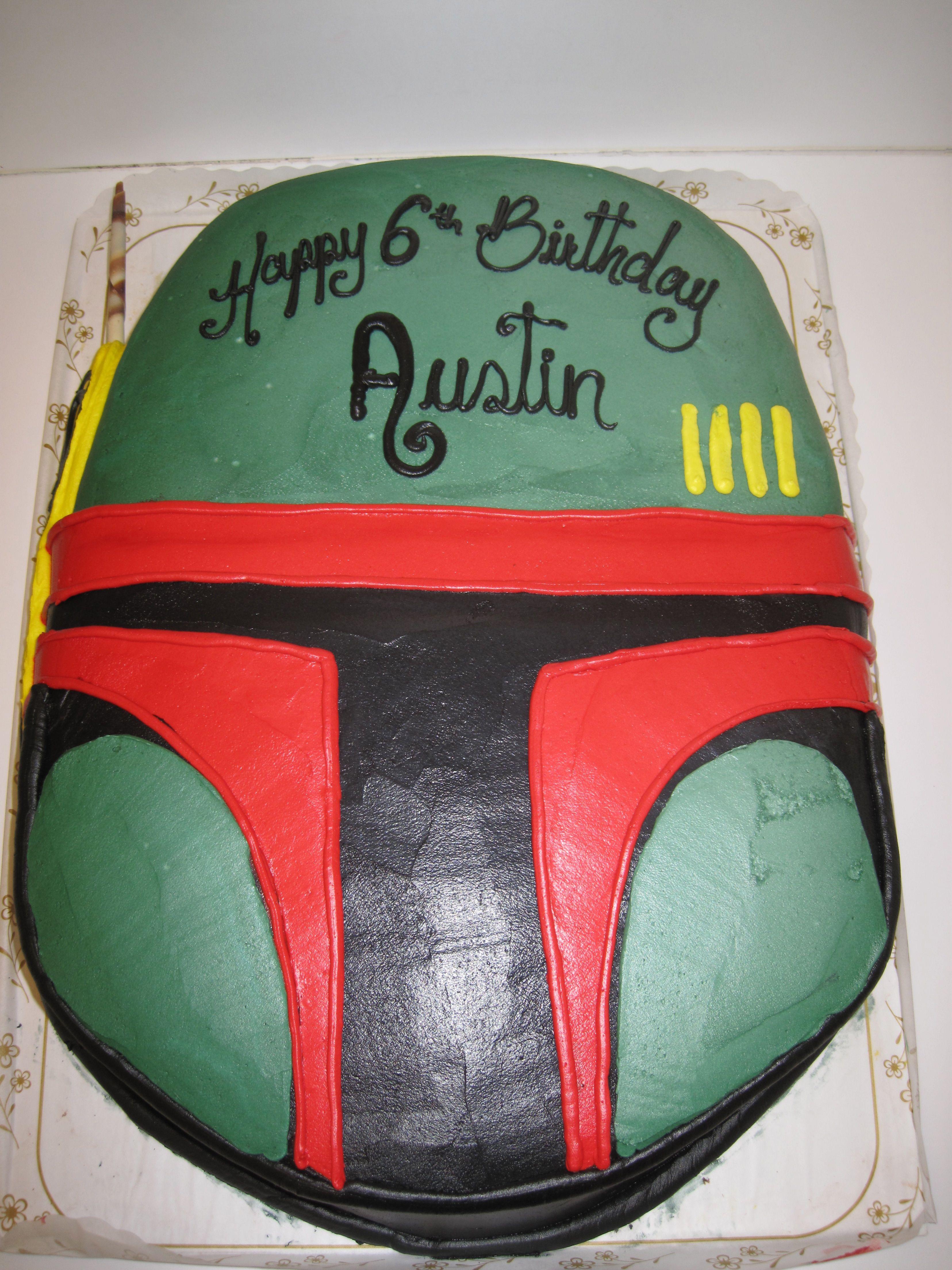 Memorial Bakery in Houston made this Star Wars Boba Fett cake for