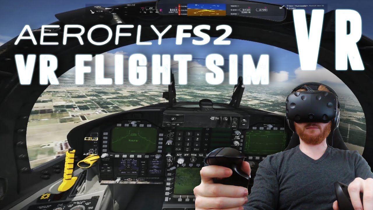 Aerofly FS 2: VR flight simulator gameplay on HTC Vive with