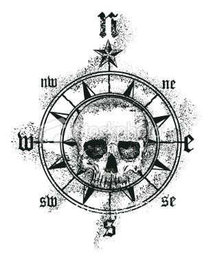 Wonder if I could make my skull pirate tatt into a compass like this for my pirate side!