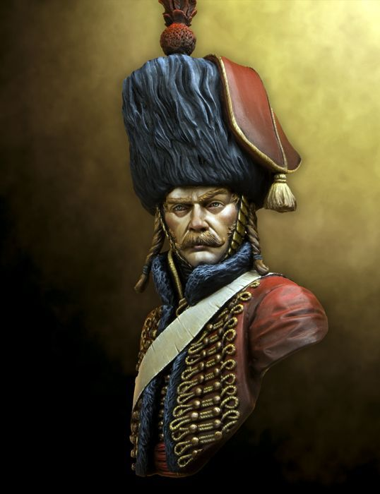 1:9 Bust French Hussar