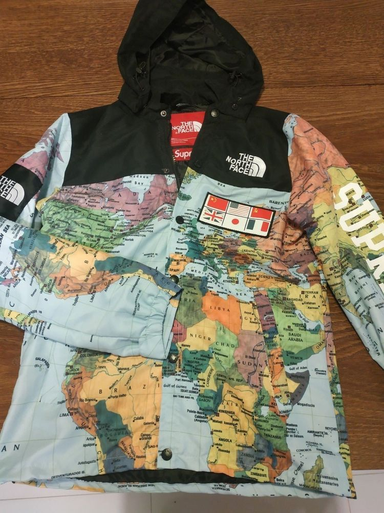 b339bf5f01 Supreme X The North Face World Map Jacket  fashion  clothing  shoes   accessories  mensclothing  coatsjackets (ebay link)