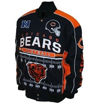 Blitz Cotton Twill Jacket Official Chicago Bears Store Cotton Twill Jacket Chicago Bears Chicago Sports Teams