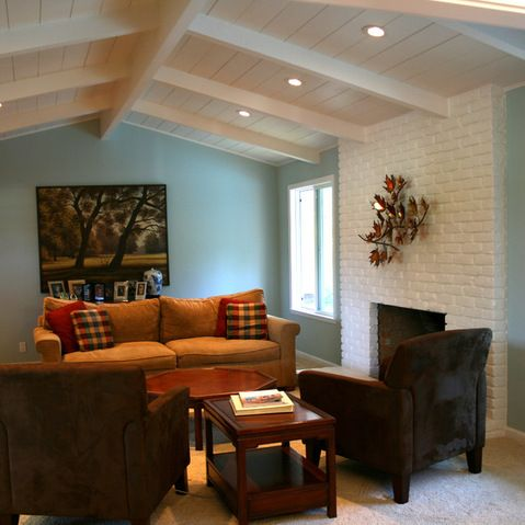 Blue Walls Design Ideas Pictures Remodel And Decor Living Room Decor On A Budget Living Room Color Contemporary Living Room