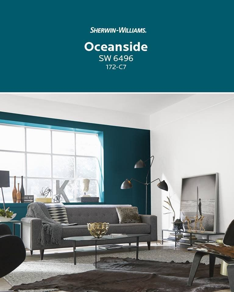 Hgtv Home By Sherwin Williams Oceanside Blue Interior Paint