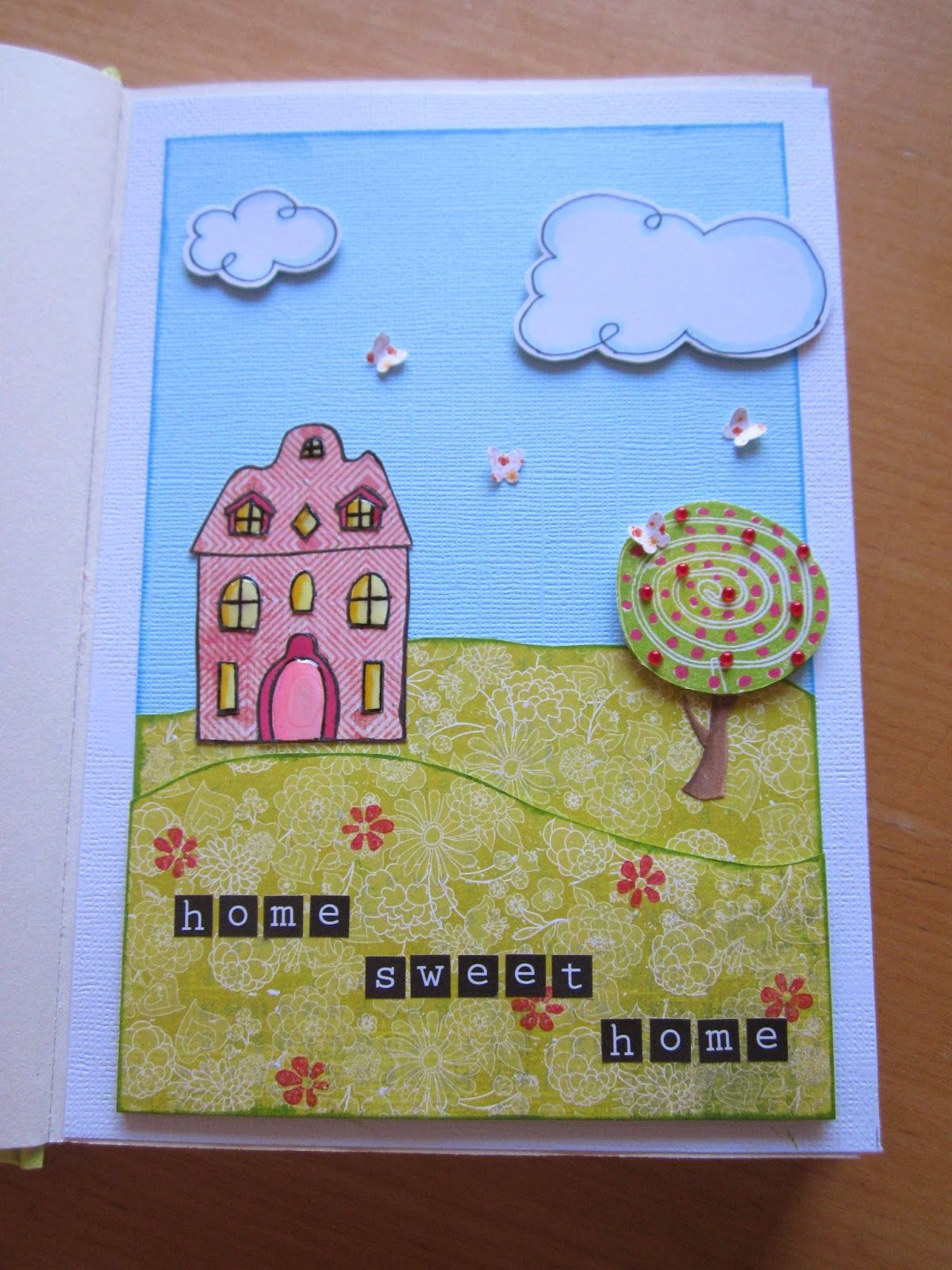 Kaatje Kip blog - 1e pagina in mijn freubelboekje - first page made in my creative-book.