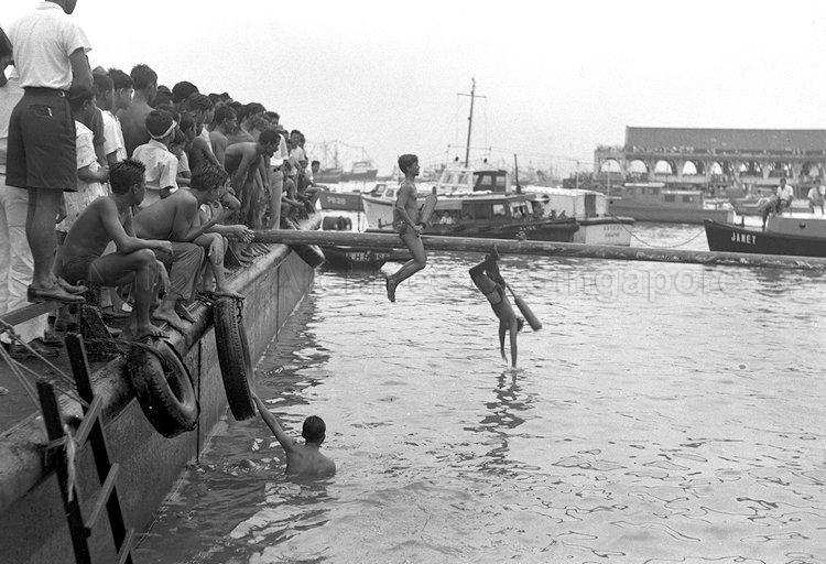 1959 New Year Day Sea Sports Sea Sports Singapore Photos Singapore