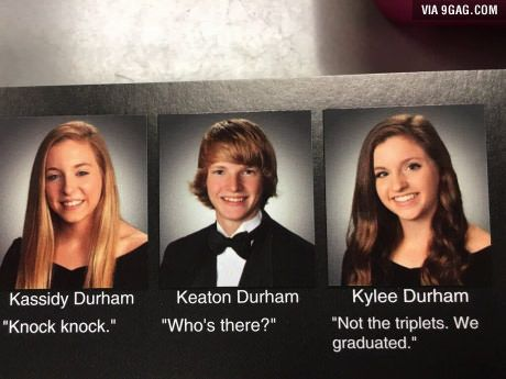 These Triplets Probably Have The Best Senior Quotes Of All Time