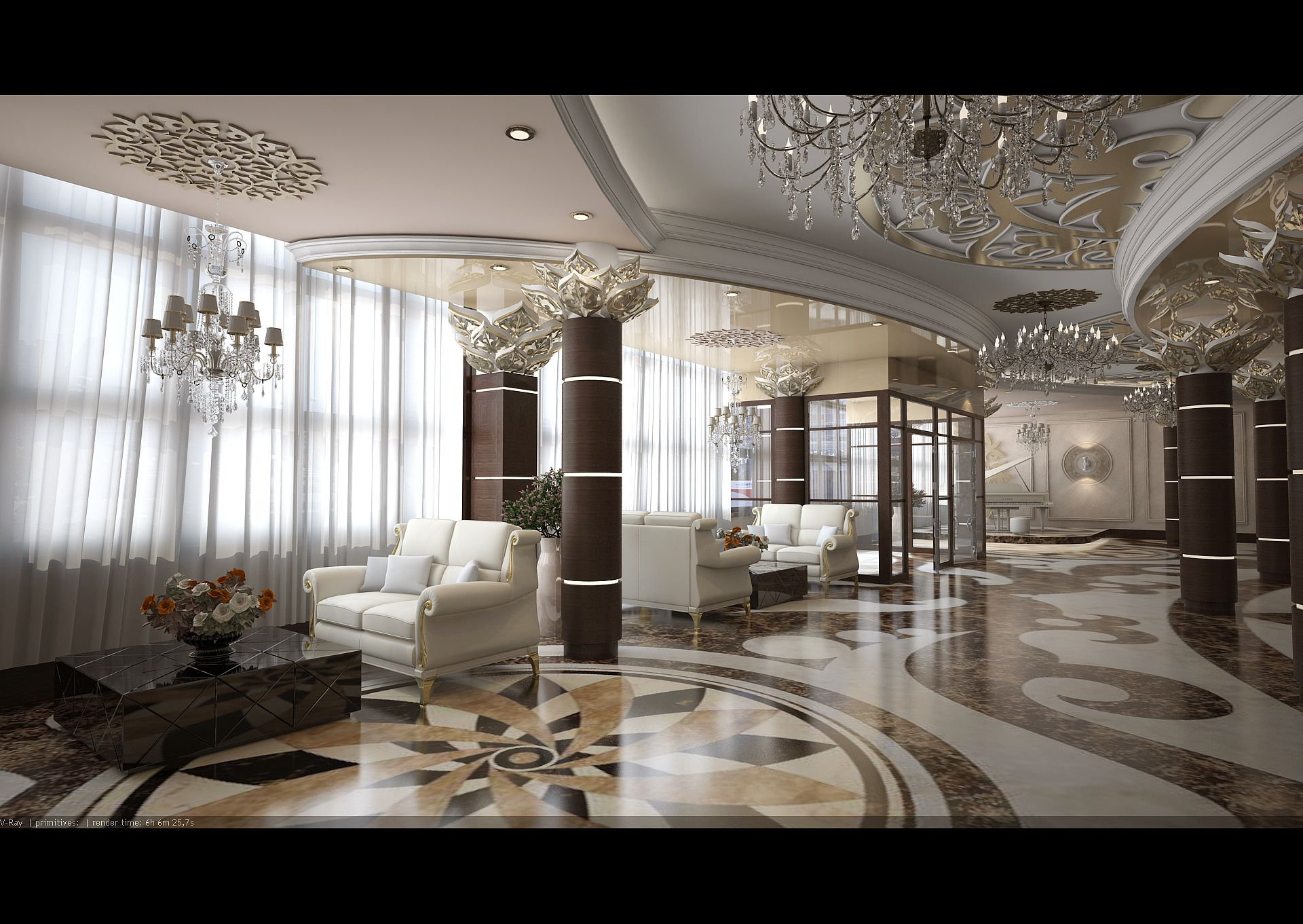 3D sketches of facades and interiors