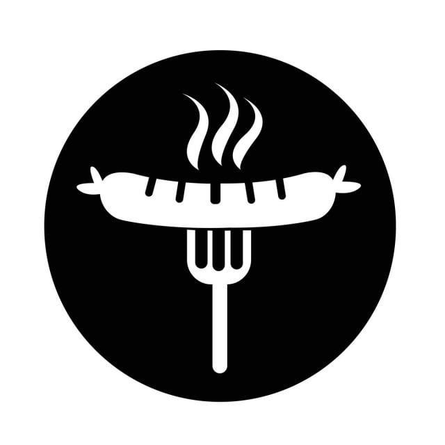 sausage grilled with fork icon icon salami vector png والمتجهات للتحميل مجانا di 2020 sosis desain garpu pinterest