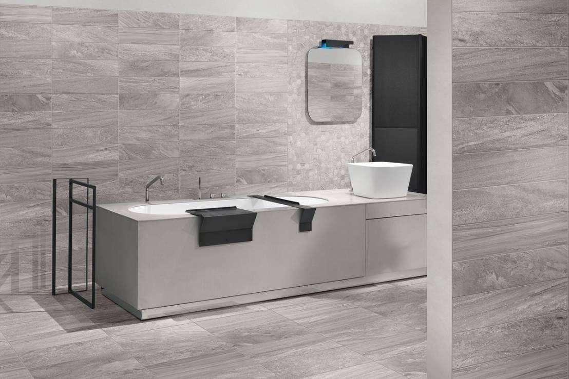 Piastrelle bagno moderno grigio cerca con google bagno - Bagno moderno grigio ...