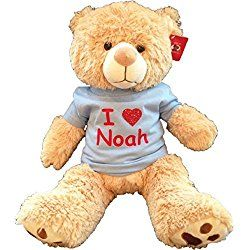 Large Personalized Teddy Bear Blue Personalised Teddy Bears Teddy Bear Stuffed Animal Teddy Bear
