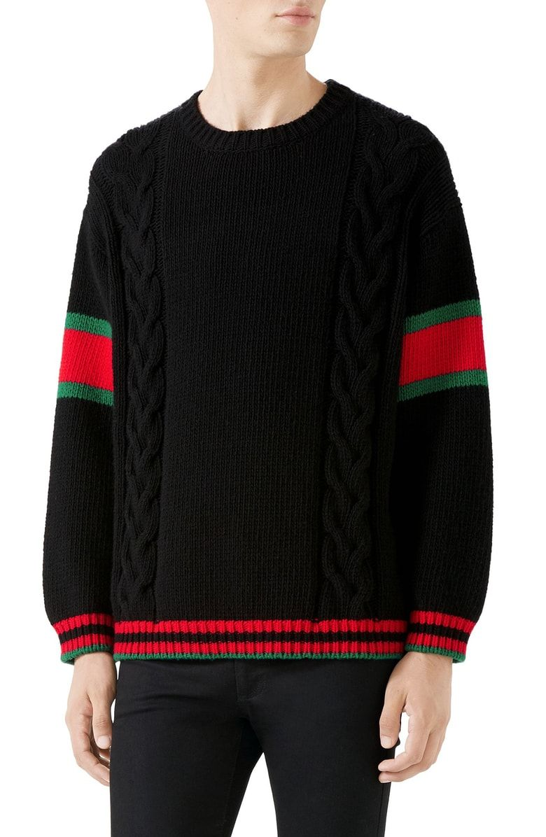 0d119bc776 GUCCI CABLE KNIT WOOL CREWNECK SWEATER. #gucci #cloth | Gucci in ...