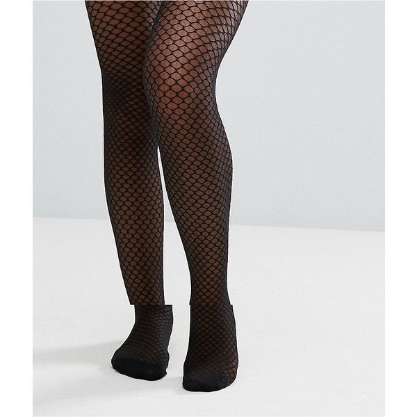 a8734f99e60ad ASOS Mock Fishnet Tights (405 THB) ❤ liked on Polyvore featuring intimates,  hosiery, tights, black, wet look stockings, gloss tights, high rise tights,  ...