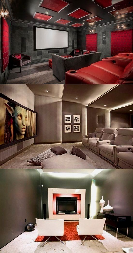 More ideas below hometheater basementideas diy home theater decorations basement rooms red seating small the also rh pinterest