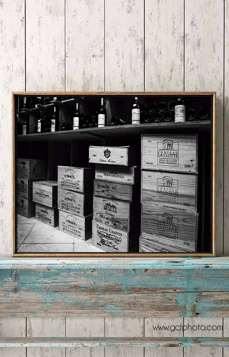 Winery photography wood wine box picture french crates photograph