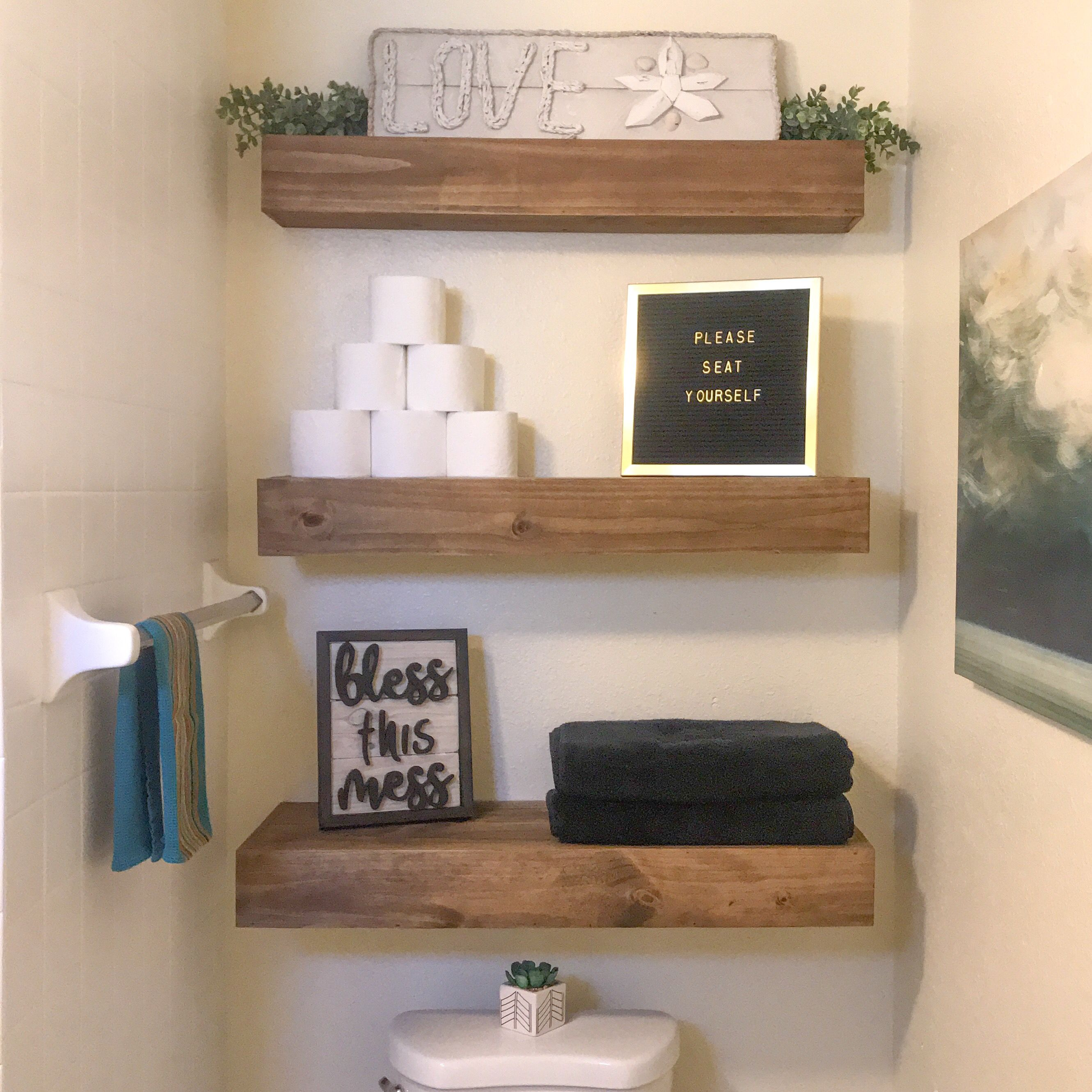 Floating Shelves Above Toilet Toilet Storage Floating Shelves Shelves
