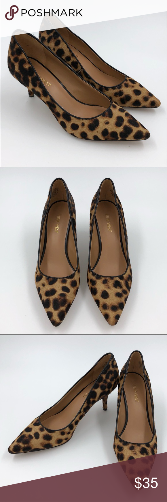 03ed5eb30d34 Nine West Womens Margot Shoes 7 Calf Hair Leopard Nine West Womens Margot  Shoes 7 Calf Hair Leopard Print Pumps Pointed Toe Heels Heel height: 2.5  inches ...