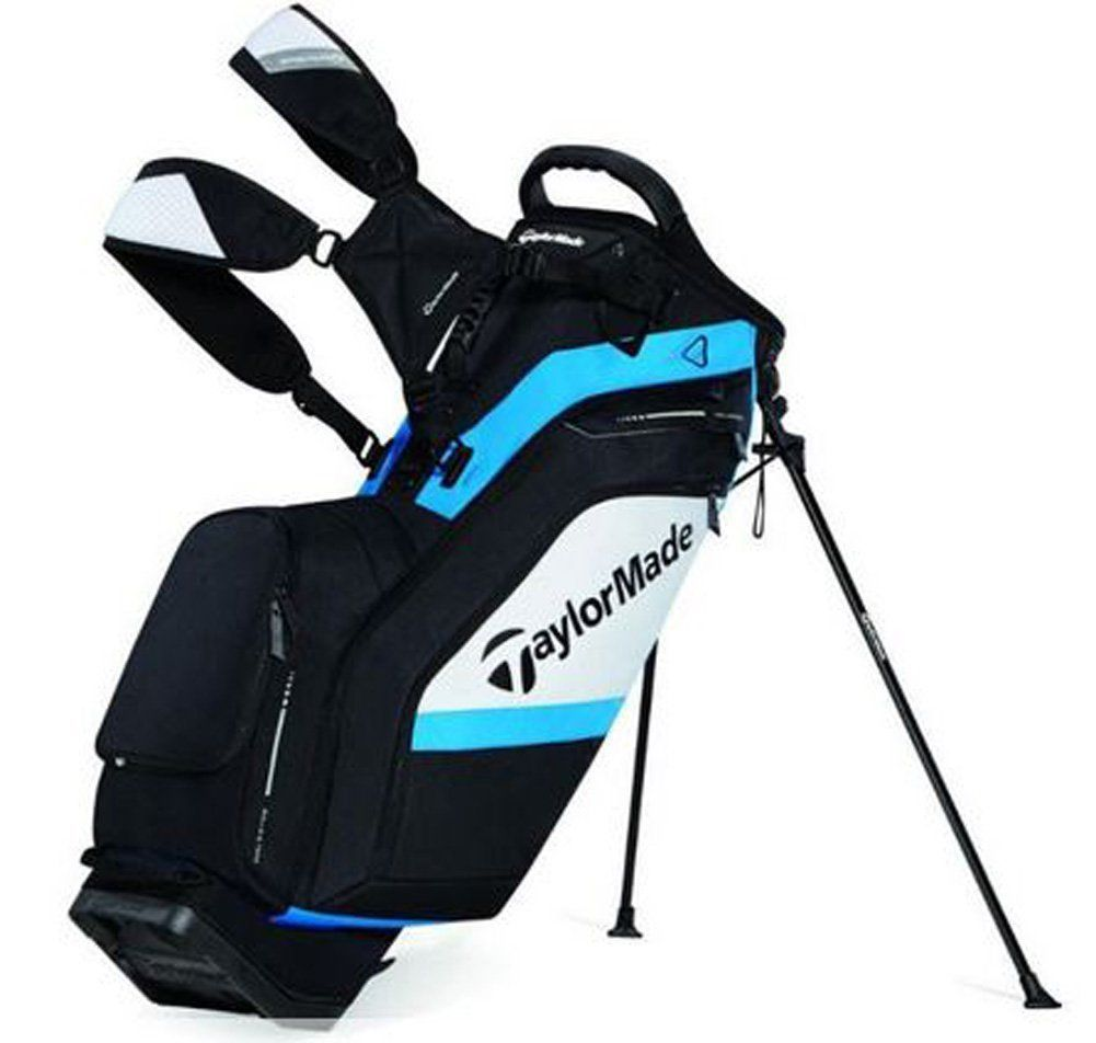 The crush resistant body construction on these womens supreme hybrid golf stand bags by Taylormade provides complete protection for equipment and contents