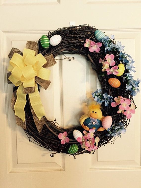 Easter Sale Was 39.50 Now 32.50 Easter Wreath by 4SeasonsWreaths