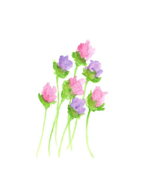 47 Tumblr Watercolor Flowers Paintings Easy Flower Painting