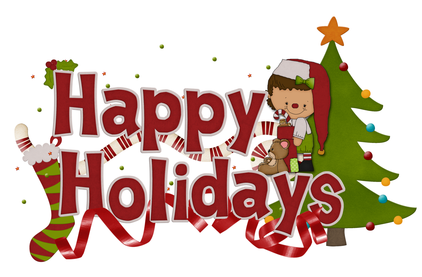 Image result for happy holidays clipart free