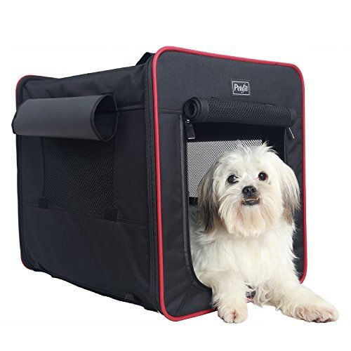 Petsfit 21x15x18 Inches Foldable Cat KennelCat CageDog KennelLightweight Pet KennelBlack *** Click image to review more details.