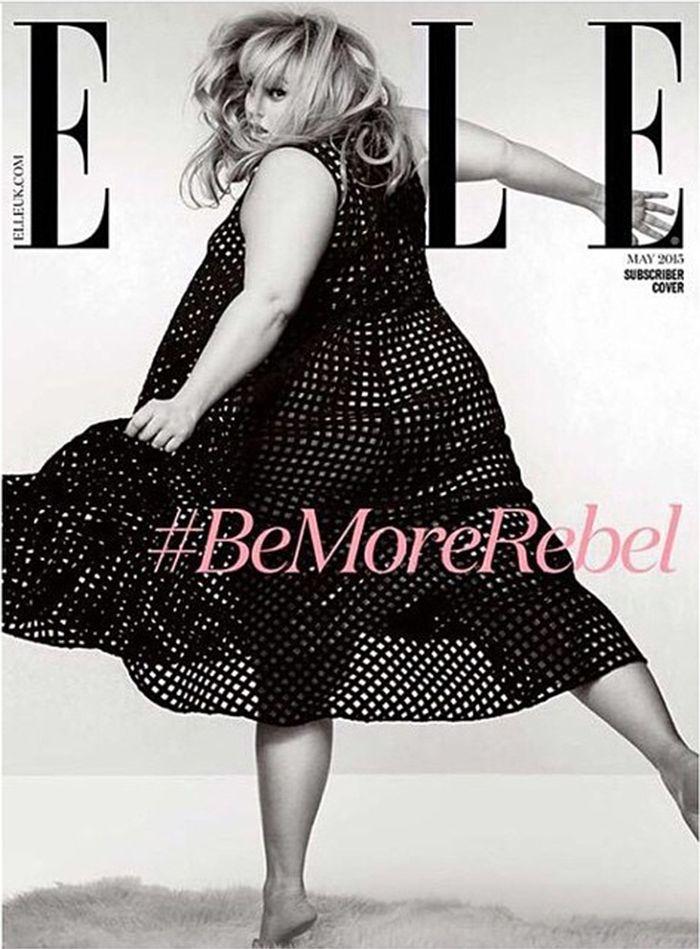 Rebel Wilson na capa da Elle UK de maio | Rapidinhas da Ju