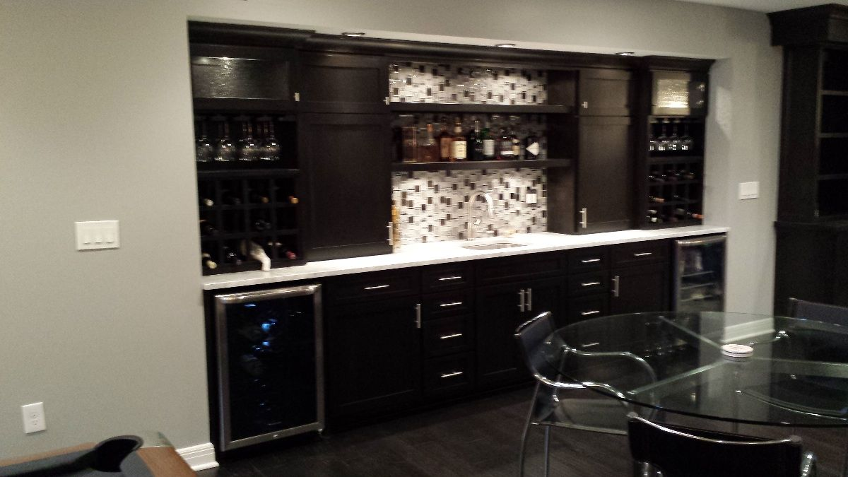 Wet Bar Ideas For Basement Basement Remodeling Project Galleries Bar Pi