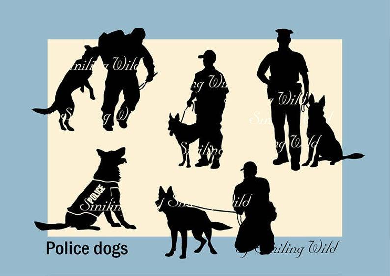 Police Dog K9 Svg Art Silhouette Police Dog Training Clipart Etsy Police Dogs Police Dog Training Police K9