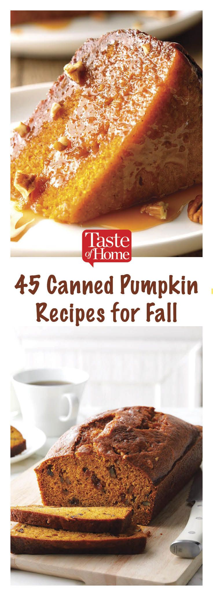 45 Fall Recipes That Use Canned Pumpkin -   24 sweet pumpkin recipes