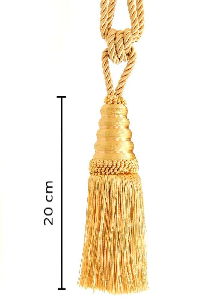 Details Zu Raffhalter Quaste 20 Cm Mit Kordel 60 Cm Gold Honiggeb